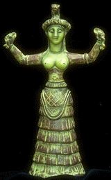 Serpent Goddess Of Crete at Sacred Source